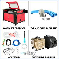 100w Co2 Laser Engraving Engraver Machine 900x600mm Water Cooling Air Assist