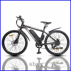 26 36V 350W Electric City Bicycle e-Bike Removable Battery 7 Speed Pedal Assist