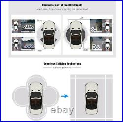 360 Degree HD Bird View Panoramic Parking Assistant System Car DVR with 4 Camera