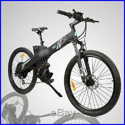 48V 1000W Electric Bike Mountain Bicycle E City Black with Throttle & Pedal Assist