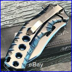 8.0 MTECH USA ASSISTED OPEN TACTICAL BLUE TINITE FOLDING POCKET KNIFE Blade New