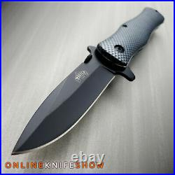 8 ASSISTED OPENING FOLDING STILETTO TACTICAL KNIFE Blade Pocket Open Carbon NEW