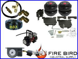 Air Tow Assist Rear kit, 1 paddle, Red Compressor 2003-08 Dodge 1500