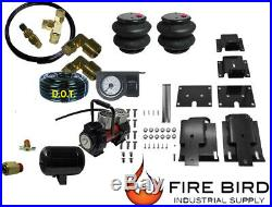 Air Tow Assist Rear kit, 1 paddle, Tank, Red Compressor 2003-08 Dodge 1500