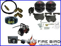Air Tow Assist Rear kit, big button, Red Compressor 2009-18 Dodge 1500