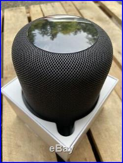 Apple HomePod Voice Enabled Smart Assistant Black Open Box Excellent Condition