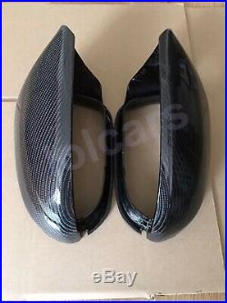 Audi A6 C7 2012+ S6 RS6 CARBON FIBER Wing MIRROR COVERS OEM-Fit with Lane Assist