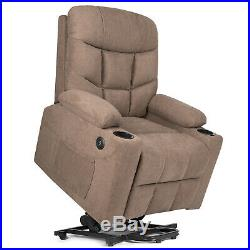 Automatic Power Lift Massage Chair Electric Recliner Heat USB Wheel Assist Stand
