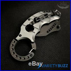 BLUE KARAMBIT SPRING ASSISTED POCKET KNIFE Tactical Open Folding Claw Blade EDC