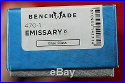 Benchmade 470-1 Emissary Osborne Axis Assist Opening Cpm-s30v Knife, New In Box