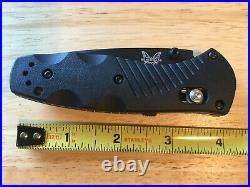 Benchmade 585BK Mini Barrage Black Assisted 154CM Plain AXIS Knife Made in USA