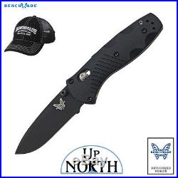 Benchmade 585BK Mini Barrage Spring Assisted Knife Black withAxis Lock FREE HAT