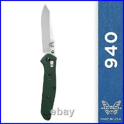 Benchmade 940 Knife Reverse Tanto Plain Edge Satin Finish AXIS Assisted Opening