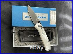 Benchmade Bugout Mini. White With Black Blade. (new)