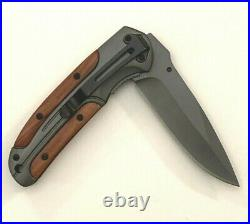 Browning Spring Assisted Opening Pocket Folding Knife Wood Handle DA43 NIB
