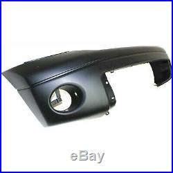 Bumper Cover For 2007-2013 Toyota Tundra with Fog Light Holes Front Plastic Primed