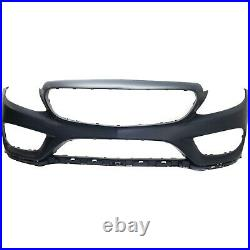 Bumper Cover For 2015-2016 Mercedes Benz C300 Primed witho parking aid sensor hole
