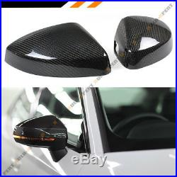 Carbon Fiber Replacement Mirror Covers For 14-18 Audi A3 S3 Rs3 With Lane Assist