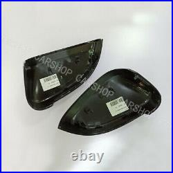 Carbon Fiber Side Mirror Cover Replace W Lane Assist For Audi B9 A4 A5 S5 17-20