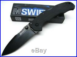 Cold Steel 22AB Black G-10 Swift II Assisted Straight Folding CTS-XHP Knife