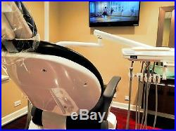 DENTAL CHAIR with R side DELIVERY UNIT, assist arm, & senored LED OPERATING LIGHT
