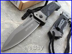 DROP POINT KNIFE Military G-10 HEAVY DUTY Spring Assisted Tactical Rescue New