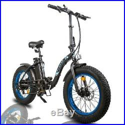 ECOTRIC 20 500W 12.5Ah Folding Electric Bicycle e-Bike Fat tire Pedal Assist