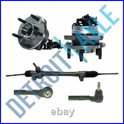 Electric Assist Steering Rack and Pinion, 2 Wheel Hub Bearing with ABS, 2 Tie Rod
