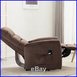 Electric Lift Chair Sofa Recliner Living Room Fabric Soft Seat Assist Elderly US