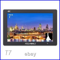 FEELWORLD T7 7 IPS 4K HDMI Camera Field Monitor with Video Assist & Battery