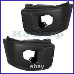 For 14-19 Tundra Pickup Front Bumper Extension End Textured Left Right SET PAIR
