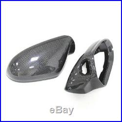 For Audi A6 C7 S6 RS6 Carbon Fiber Mirror Housing Cover with Lane Assist 2012 +