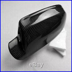 For Audi S5 B8.5 or B8 facelift car mirror cover carbon fiber With side assist