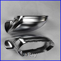 For Audi S6 A6 11-18 C7 car mirror cover electroplating silver With Side Assist