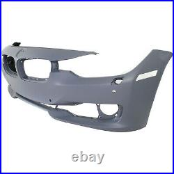 Front Bumper Cover For 2012-2015 BMW 328i Standard Type with HLWithPDC Holes Primed
