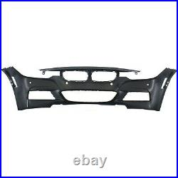 Front Bumper Cover For 2013-2017 BMW 320i xDrive with M Sport/PDC/IPAS/Cam Holes