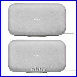 Google Home Max Smart Speaker with Google Assistant, Chalk (2-Pack)