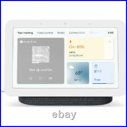 Google Nest Hub Display with Assistant, Charcoal (2nd Gen) + Nest Hub Max -Chalk
