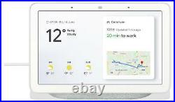 Google Nest Hub Smart Home Voice Activated Google Assistant with Screen Chalk