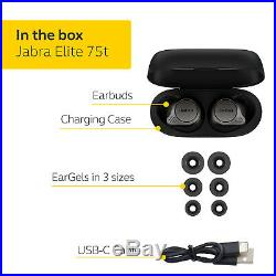 Jabra Elite 75t Voice Assistant Enabled True Wireless earbuds with Charging Case