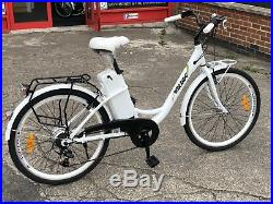 LADIES ELECTRIC BICYCLE 26 Alloys Luggage Pedal Assist Light Weight Elegance S2