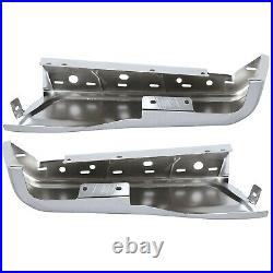 Left &Right Rear Bumper End Cover For 2015-2020 Ford F150 Chrome Steel FO1102380