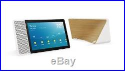 Lenovo 10 Smart Display with Google Home Assistant White Front/Bamboo Back