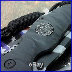 MTECH MARINES TACTICAL USMC ASSISTED KNIFE Folding Pocket Military Camo Blade