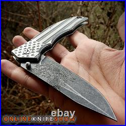 MTECH SPRING POCKET KNIFE Tactical Assisted Open Folding Blade GRAY USA FLAG NEW