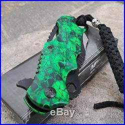 MTECH SPRING TACTICAL ZOMBIE ASSISTED OPENING KNIFE Folding Pocket Blade Green