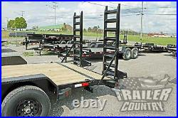 NEW 2021 7 X 20 10k Heavy Duty Equipment Trailer with Spring Assist Ramps