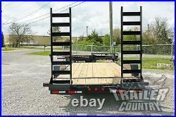 NEW 2021 7 X 20 14k Heavy Duty Equipment Trailer with Spring Assist Ramps