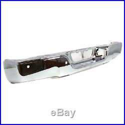 NEW Chrome Steel Rear Bumper Face Bar for 2007-2013 Toyota Tundra with Park Assist