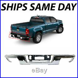 NEW Chrome Steel Rear Bumper Face Bar for 2019 Chevy Colorado Canyon Park Assist